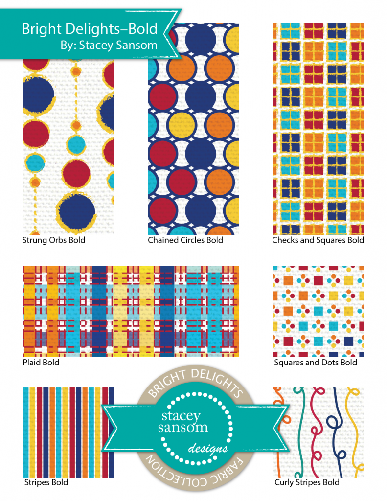 Stacey Sansom Designs Bright Delights Fabric Collection