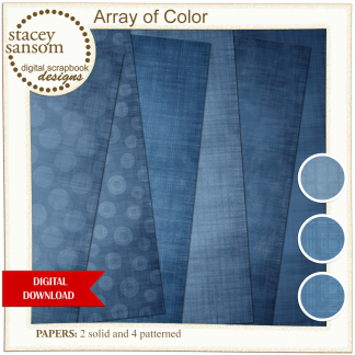 Array of Color Dark Blue Paper Pack from Stacey Sansom Designs
