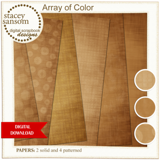 Array of Color Brown Paper Pack from Stacey Sansom Designs