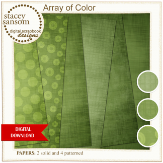 Array of Color Green Paper Pack from Stacey Sansom Designs