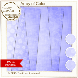 Array of Color Light Purple Paper Pack from Stacey Sansom Designs