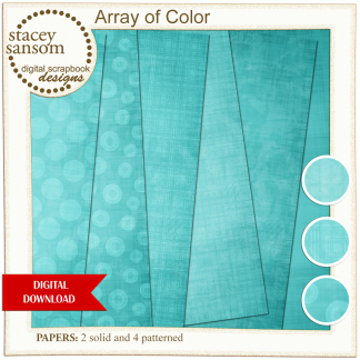 Array of Color Turquoise Paper Pack