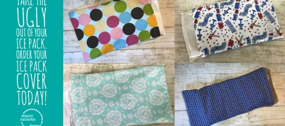 Order today! Decorative Ice Pack Covers | Stacey Sansom Designs