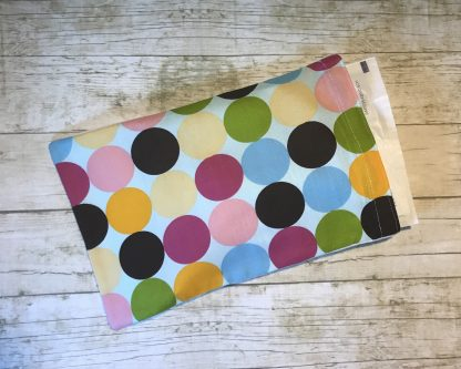 Ice Pack Cover - Multi Colored Large Dots - 6x8