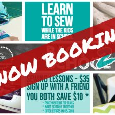 Group Sewing Lessons NOW BOOKING!