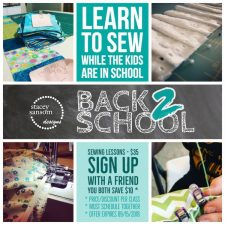 Discounts on Sewing Lessons