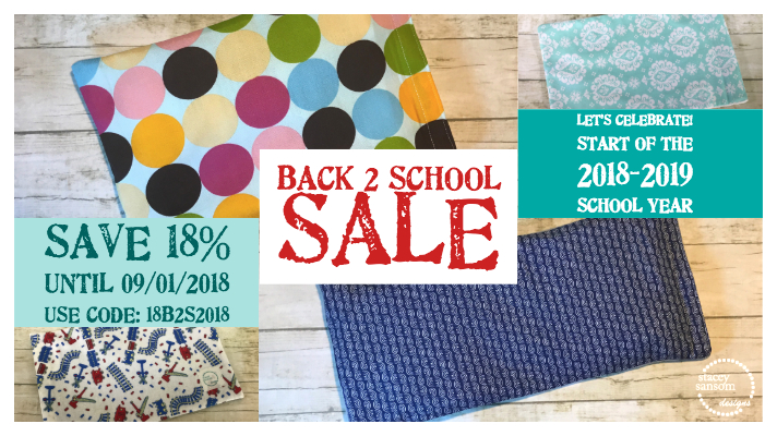 Stacey Sansom Designs 2018 Back to School Sale