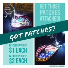 SERVICE – Sew on Patches