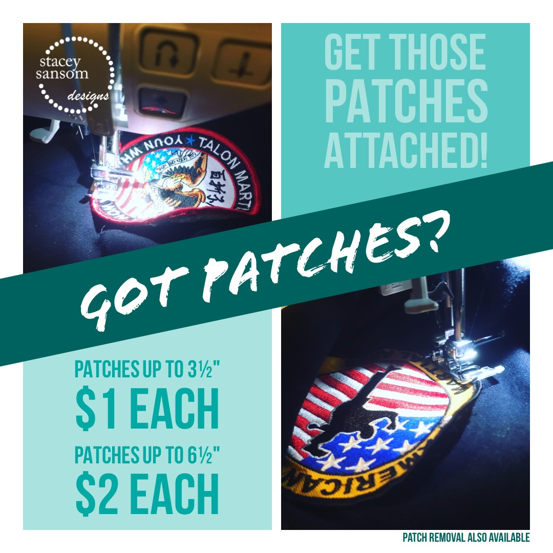 Got Patches? Get them sewn on today!