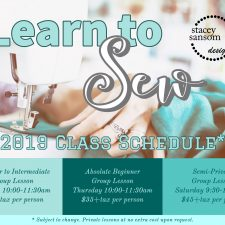 2019 Sewing Lessons – Register Today!